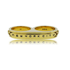 18k Hoorsenbuhs Yellow Gold New York City Double Ring