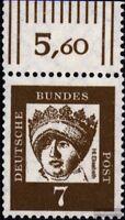 BRD (BR.Deutschland) 348y Oberrandstück gestempelt 1961 Bedeutende Deutsche
