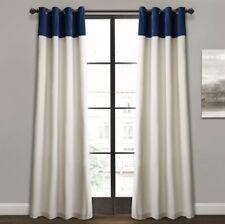 "Lush Decor Milo Linen Window Curtain Panel Pair 104"" W x 84"" L"