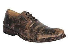 BED STU Cobbler Mens Oxford Shoes Distressed Leather Black Lux Size 11