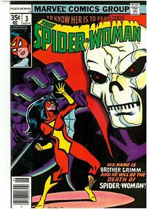 SPIDER-WOMAN 3 1978 VF+ SPECTACULAR ISSUE BRONZE AGE FREE UK POST