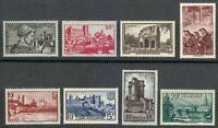 France 1938 MNH Mi 408-415 Castle,Miners,Avignon,Arc Triomphe of Orange,Port **