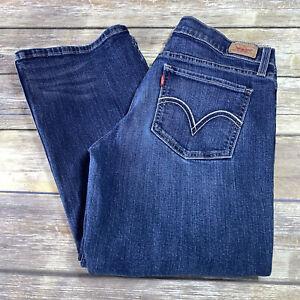 Levi's 524 TOO SUPERLOW Juniors Size 9 M Blue Boot Cut Jeans Denim Pants Stretch