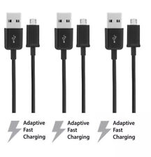 3x Rapid Charge Micro USB Cable Fast OEM Quality Power Sync Cord Charger Black