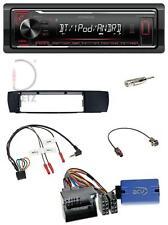 Kenwood Lenkrad MP3 Bluetooth USB Autoradio für BMW X3 04-10 E83 seitlich