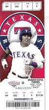 2015 TEXAS RANGERS VS MINNESOTA TWINS TICKET STUB 6/14 BYRON BUXTON MLB DEBUT