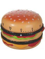 """Küchen-Timer Eieruhr Kurzzeitwecker Küchenuhr  """"Hamburger"""" 60 Minuten Kochwecker"""