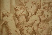 Altmeister Zeichnung Rötel Sanguine 1650: Flagelation Christ Italy Old Master