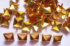 100 pcs Gold Tone Pyramid Stud spot spike for leather craft - size 13 mm