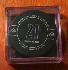 Peter Forsberg Colorado Avalance Jersey Retirement Night Game Puck 10/8/11 L@@K