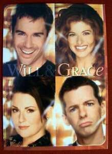 1990S TV PROMO SHOW POSTCARD WILL AND GRACE 4X6 NEW CONDITION!! M