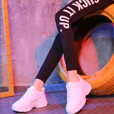 Womens High Platform Trainers Sneakers Retro Boots Chunky Dad Shoes White