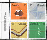 Canada Mint NH VF Block Scott #582-85 (4) 1972 15c Earth Sciences Stamps