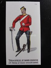 74 TROOPER AT SWORD EXCERCISE Types of the British Army REPRO Gallaher 1898