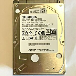 """TOSHIBA MQ01ABD100 1TB 2.5"""" SATA Laptop Hard Drive HDD *TESTED*"""