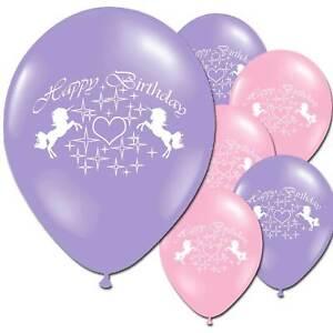 "8pcs 12"" Unicorn  Happy Birthday Children's Party Latex Printed Balloons Decor"