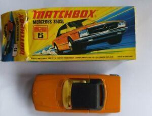 Mercedes 350SL Superfast Matchbox Diecast Vintage Car: