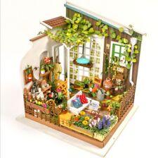 Robotime DIY 3D Model Kit LED Light Miniature Woodcraft Gift Miller's Garden UK