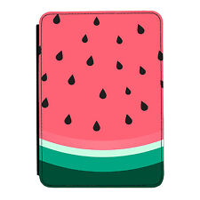 Juicy Sandía Slice Rosa Divertido Mini Ipad 1 2 3 Cuero Pu Flip Funda Protectora