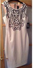 BNWT 🌹 Jax 🌹 UK Size 16-18 White / Ivory Bodycon Fitted Dress (TKMAX) US 14
