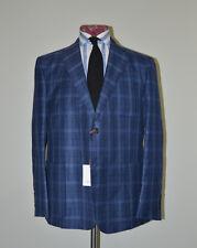 Jack Spade Blue Wool Silk Linen patch pocket blazer Suit Jacket USA made 46 56