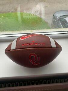 OU Sooners Nike Leather American Football Game Ball