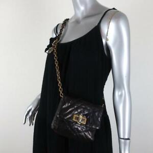 Lanvin Happy Mini Pop Crossbody Bag Black Quilted Leather Shoulder Bag