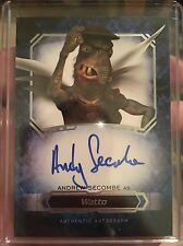 2016 Topps Star Wars Masterwork ANDREW SECOMBE as WATTO Autograph Auto