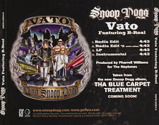 Snoop Dogg: Vato Featuring B-Real PROMO Music CD Extra Clean 4 trk GEFR-11894-2