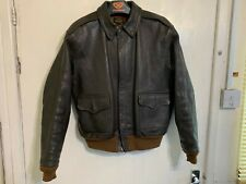 VINTAGE USAAF WW2 EASTMAN TYPE A-2 LEATHER MILITARY BOMBER JACKET SIZE 40