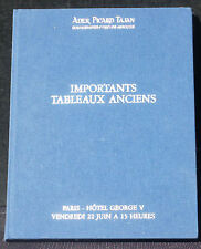 Catalogue Ader Picard Tajan Tableaux anciens 22 juin 1990 NM