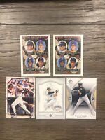 (5) Mike Piazza Lot (2) 1993 Topps Rookies Mint SP Leaf Donruss Dodgers Mets