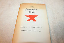 1961 The Blacksmith's Craft, Smithing for apprentices & craftsmen HB/DJ