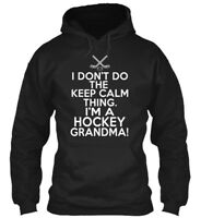 Dont Keep Calm Hockey Grandma Amz - I Don't Do The Gildan Hoodie Sweatshirt