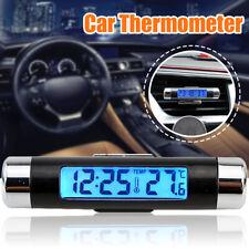 UNIVERSALE AUTO SUV TERMOMETRO DIGITALE LCD OROLOGIO TEMPERATURA   @