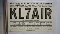 OLD VINTAGE QSL HAM RADIO CARD POSTCARD, SEATTLE WASHINGTON 1954