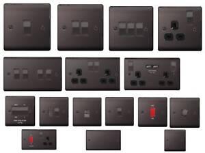 BG Nexus Metal Light Switches & Sockets Electrical Wall USB Insert -Black Nickel