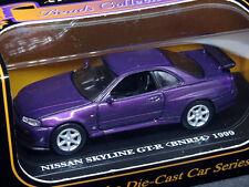 Kyosho Nissan Skyline GT-R BNR34 1999 Purple LTD Edition 1/64 Diecast Car