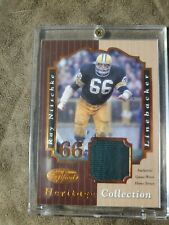 2000 Leaf Certified Heritage Collection Ray Nitschke Jersey Card 26/100
