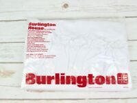 Burlington House Solid White Ruffle Twin Flat Sheet Vtg Shabby Country Farmhouse