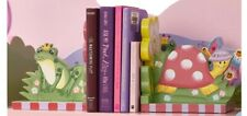 TEAMSON FANTASIA BOOK ENDS.BRAND NEW ,IDEAL FOR GIRLS BEDROOM ,HAND PAINTED.🐸🐌