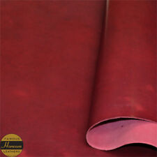 Horween Dublin Veg Tan Leather Persian Red Panels 2.0-2.2 mm Thick Full Grain