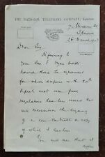 1903 The National Telephone Company, 7 Museum Street, Ipswich Letter