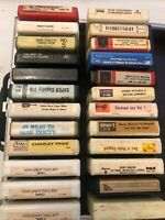lot of 24 Vintage 8-track tapes and case Gene Tracy Country Music