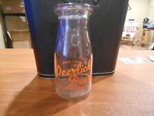 Vintage Deerlick Dairy Half Pint Milk Bottle Leonardsburg Ohio Jersey Cows