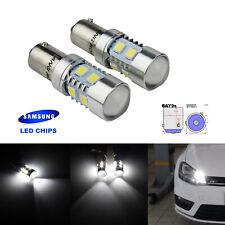 2x H21W BAY9s LED Ampoules 10W Veilleuses Feux de Jour DRL Blanc Xenon 6000k 12v