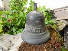 Ancienne cloche de vache en bronze, Alpage, Art populaire , LEVIER vache chalet