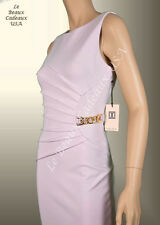 IVANKA TRUMP Women Dress Size 8 WOOD ROSE Knee CHAIN ACCENT Sleeveless LBCUSA
