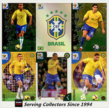 2010 Panini South Africa World Cup Soccer Cards Team Set Brazil (10)
