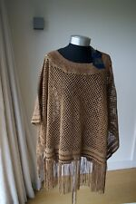 NEW AUTHENTIC Ralph Lauren Blue Label Gloriana SUEDE / LEATHER Poncho $915 FAB